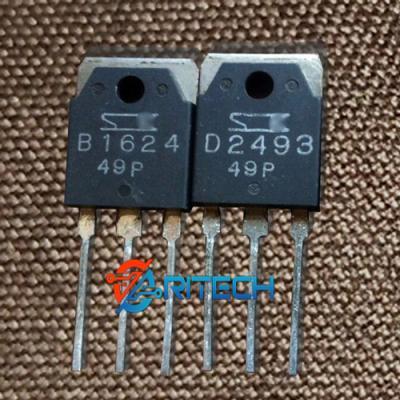 Cặp Transistor 2SD2493(D2493-NPN) và 2SB1624(B1624-PNP) 110V/6A/60W TO-3P