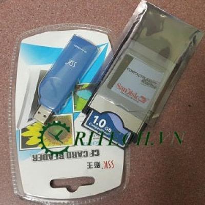 Bộ Full thẻ nhớ, Adapter, đầu đọc thẻ CF cho máy CNC