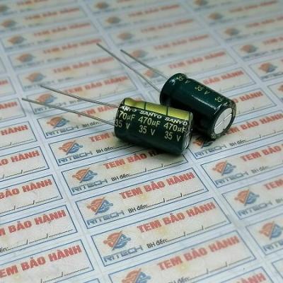 Tụ hóa 470UF 35V kích thước 10X13MM