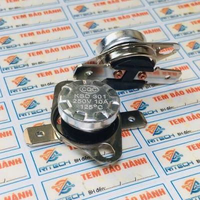 Relay nhiệt KSD301 125 độ 10A 250V thường đóng