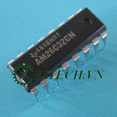 AM26C32IN, AM26C32CN DIP16